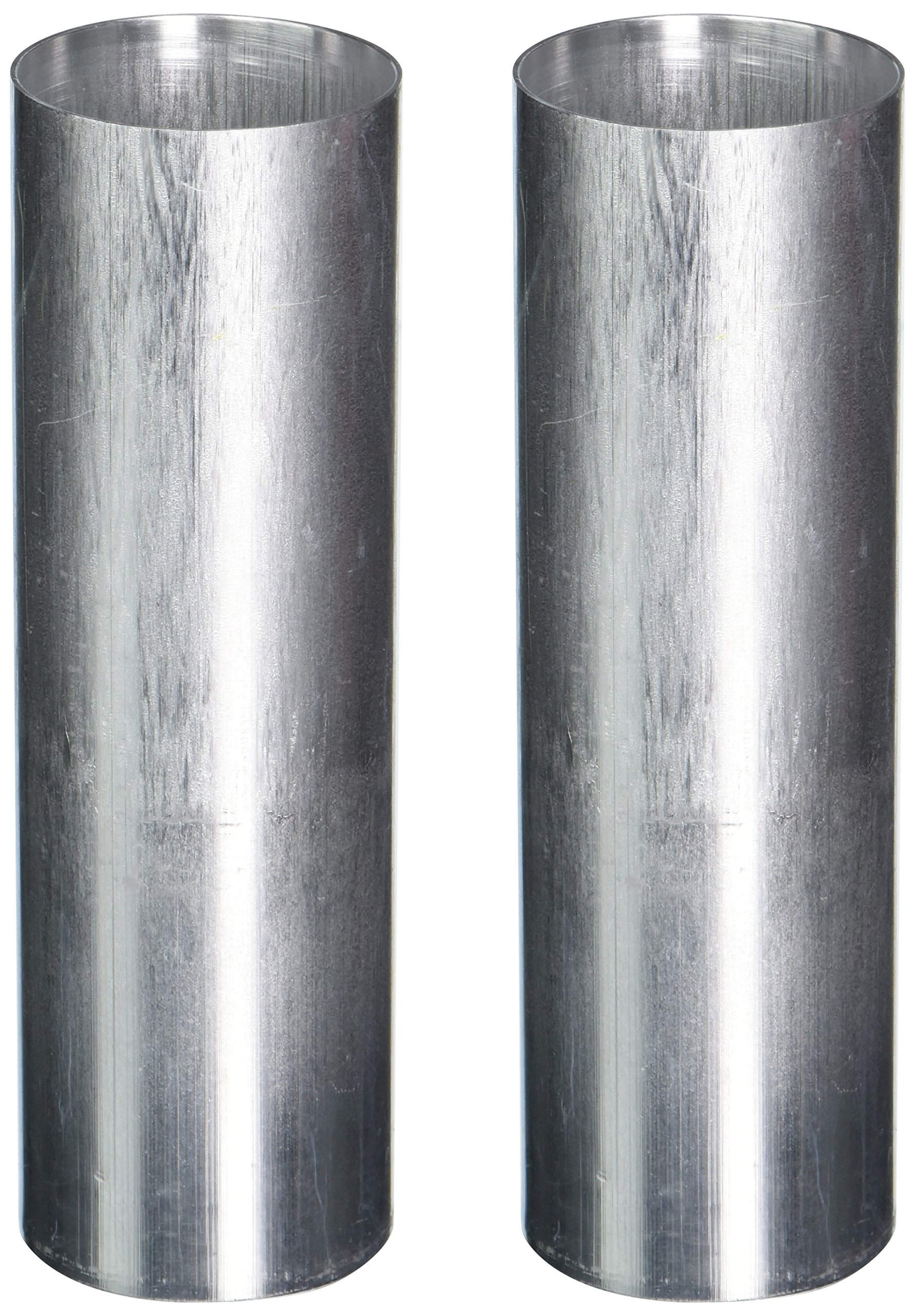 Candlewic 2Pk 2 X 6.5 inch Round Aluminum One Piece Candle Molds
