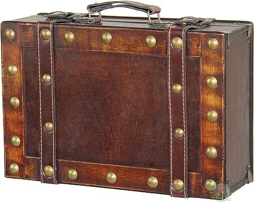 Vintiquewise TM Antique Suitcase Style Treasure Chest, Small