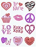 Amscan Valentine's Day Assorted Glitter Body Jewelry Pack, 6 Ct. | Party Favor
