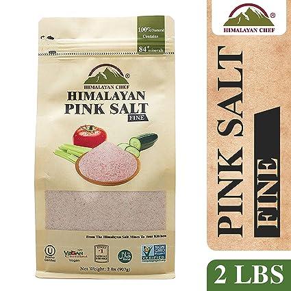 Bolsa de sal rosa Chef Coarse del Himalaya: Amazon.com ...