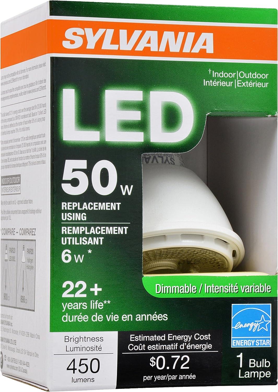 Sylvania 79261 Dimmable 6W LED PAR20 Narrow Flood Bulb
