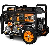WEN DF1100T 11000 Watt Dual Fuel Gasoline and Propane Portable Generator with Wheel Kit
