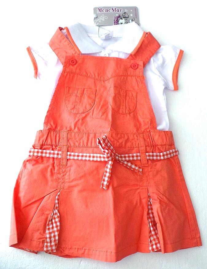 Ropa infantil bebé - Conjunto 2 piezas - Peto Falda Vestido ...