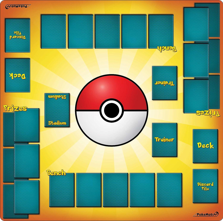 Amazon Com 2 Player Pokemon Trainer Playmat 24 X 24 Inch Toys