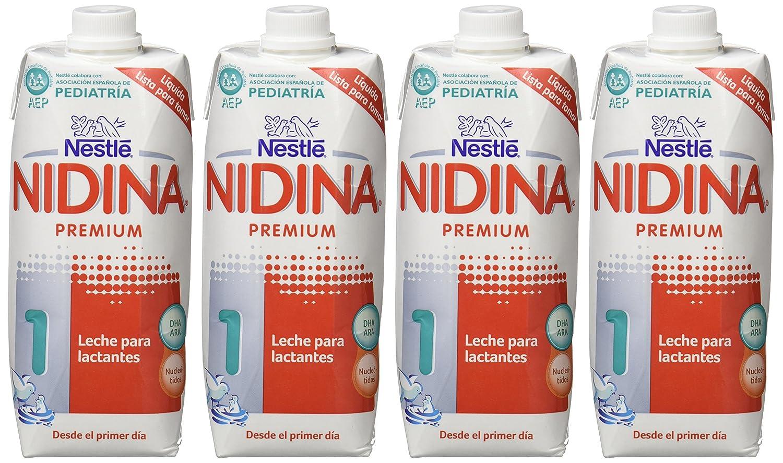 NESTLÉ NIDINA 1 - Desde el primer día - Leche para lactantes líquida - Fórmula para bebés - 500ml [Pack de 12 paquetes]: Amazon.es: Alimentación y bebidas