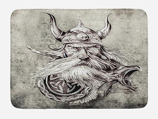 Alfombrilla de baño de tatuaje, lápiz artístico dibujo de un ...
