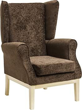MAWCARE Ashbourne Orthopaedic High Seat Chair 17 x 18 Inches [Height x Width] in Darcy Mocha (lc23 Ashbourne_d)