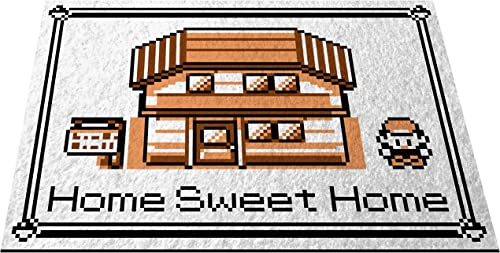 GG Promo Pokemon, Home Sweet Home Doormat Welcome Floormat 24 x 36 , Game Boy Color – Sepia