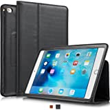 KAVAJ leather case Berlin for the Apple iPad mini 4 black - genuine leather with stand-up feature. Thin Smart Cover as premium accessory for the original Apple iPad mini 4