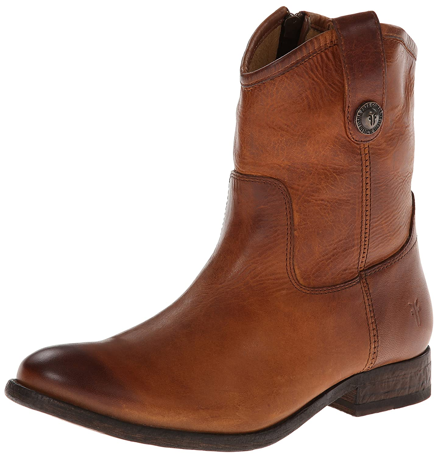 FRYE Women's Melissa Button Short Ankle Boot B00IMIFQC4 5.5 B(M) US|Cognac Washed Antique Pull-up-77908