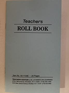 teachers roll book class record pocket size 48 sheets 6 3 4 x