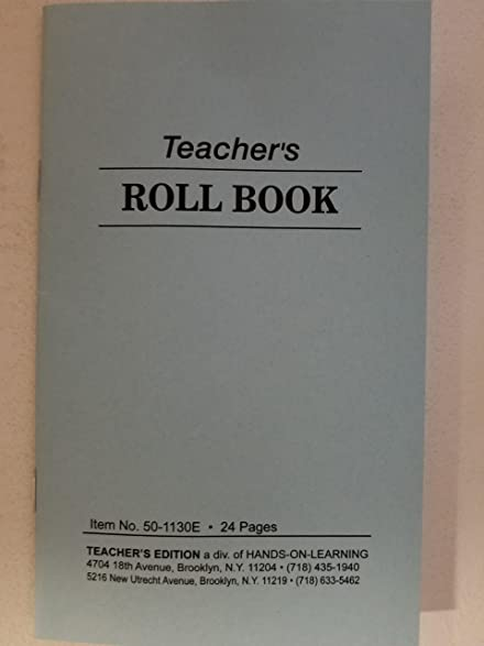 amazon com teachers roll book class record pocket size 12