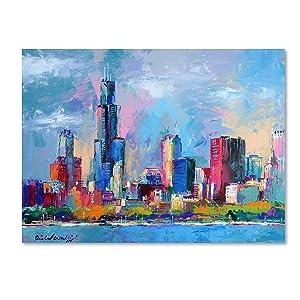 Chicago 5 by Richard Wallich, 18x24-Inch Canvas Wall Art