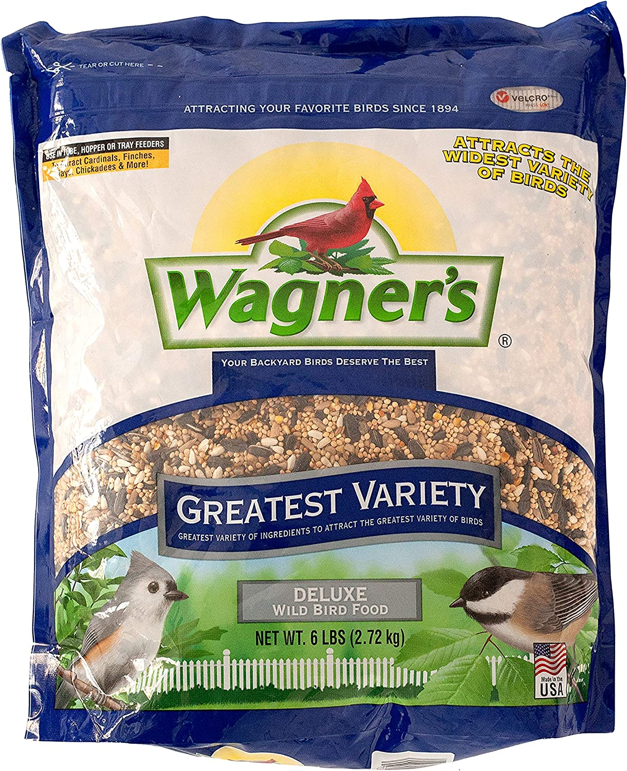 Wagner's 62034 Greatest Variety Blend Wild Bird Food, 6-Pound Bag