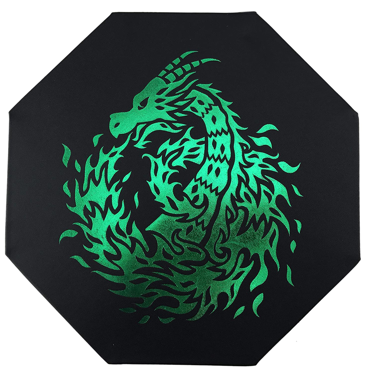 For All Tabletop RPGs Like D/&D 8 Octagon with Lid and Dice Staging Area- Holds 5 Sets of Dice Fantasydice- GREEN- Fire Dragon Shadowrun. Dice Tray 7 // Standard Call of Cthulhu