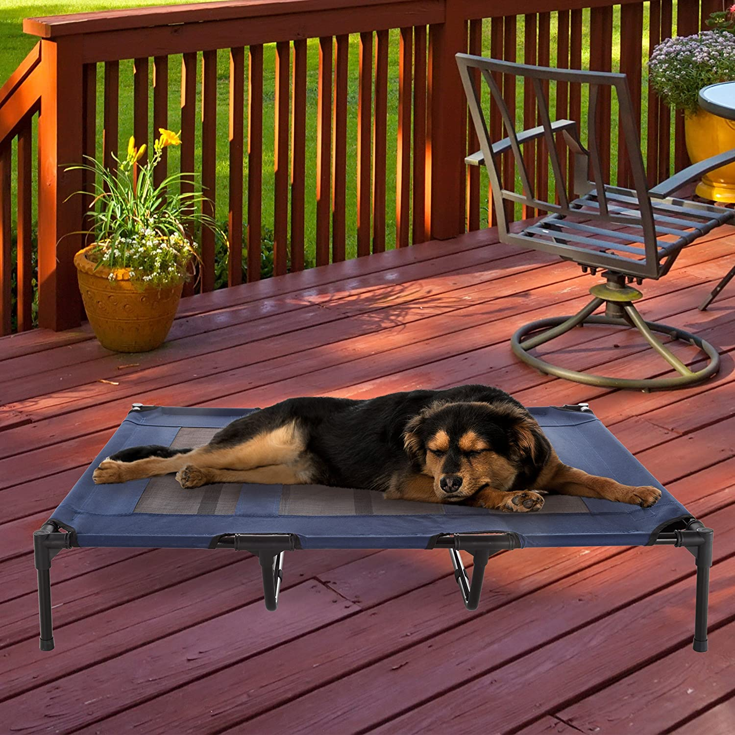 Elevated Pet Bed-Portable Raised Cot-Style Bed W Non-Slip Feet Variety