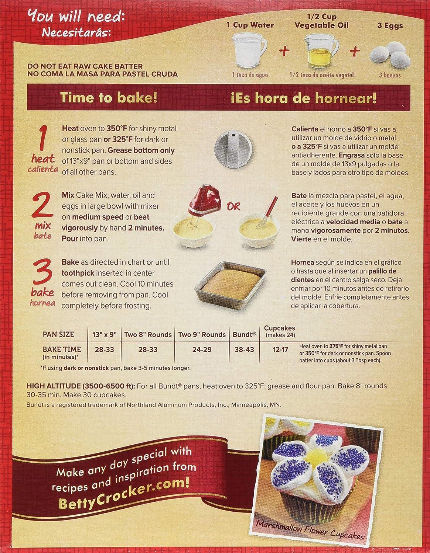 Amazon.com : Betty Crocker Super Moist Strawberry Cake Mix 15.25 oz (Pack of 12) : Grocery & Gourmet Food