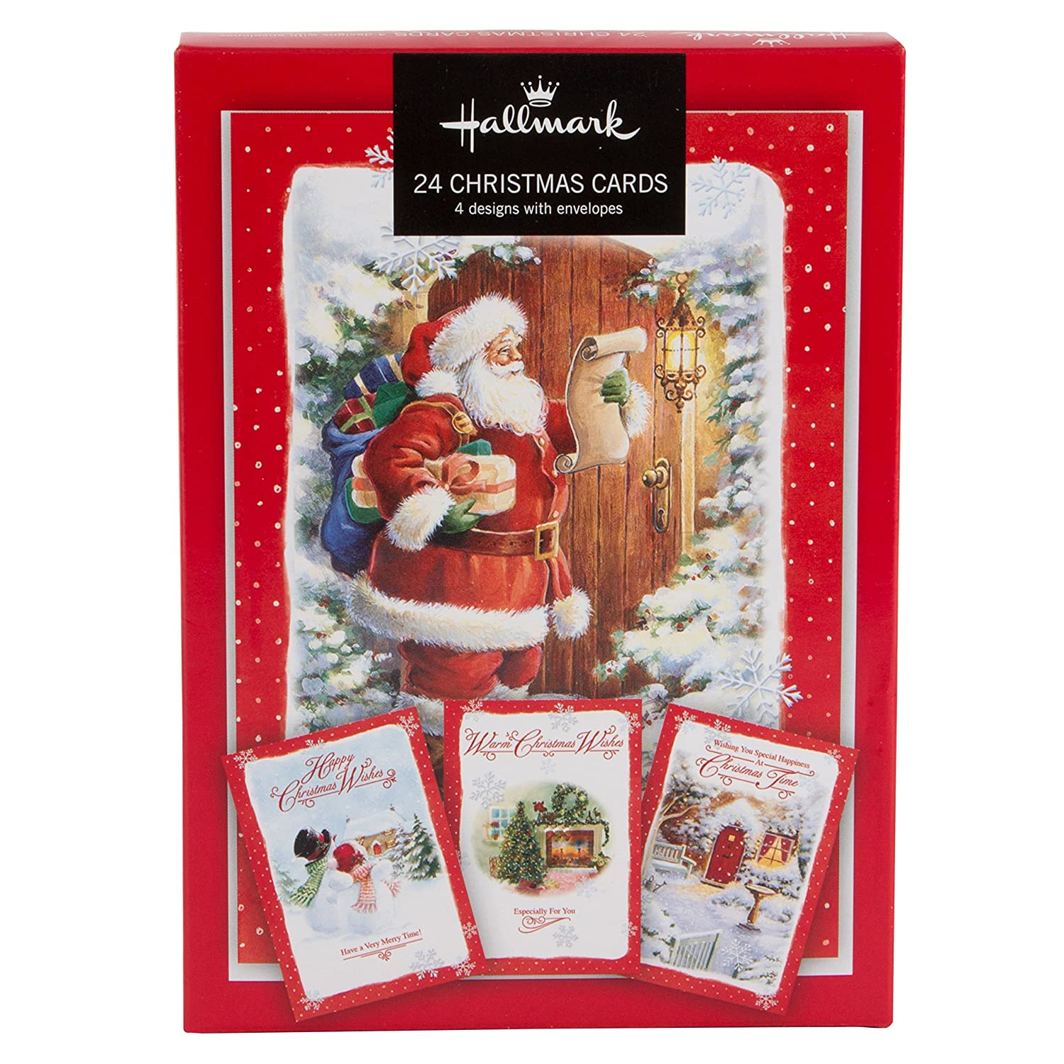 Hallmark Christmas Boxed Cards Traditional Design - Pack of 24 (with ...