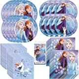 Frozen 2 Movie Party Bundle Officially Licensed by Unique | Plates, Napkins, Tablecover & Cups