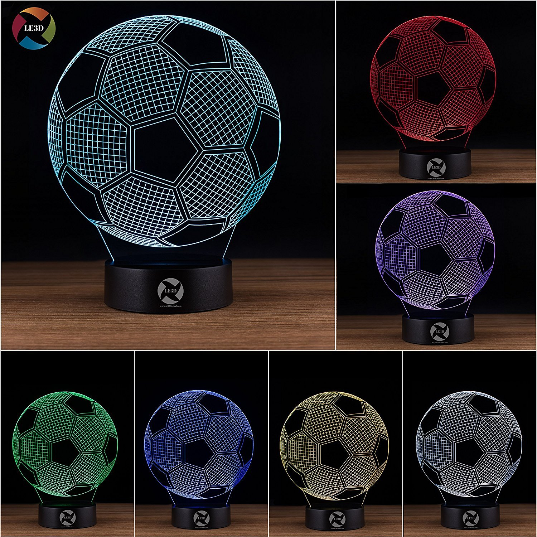 3D ナイトライト B072K3B3TG 10609 Soccer Ball Soccer Ball