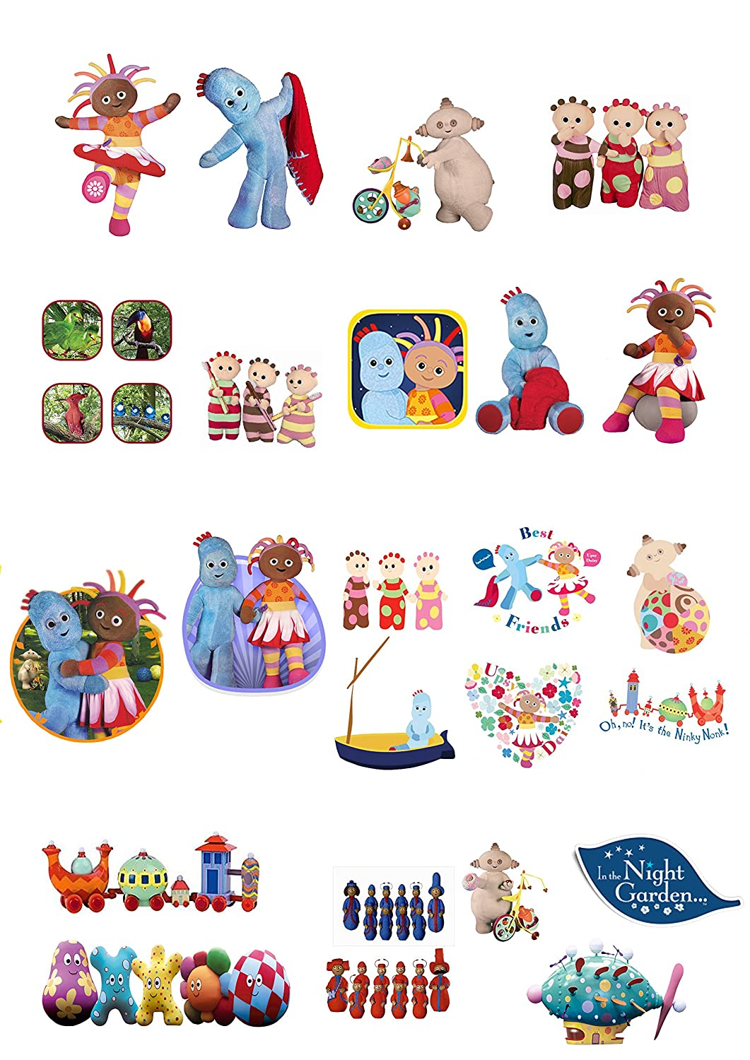24 x In The Night Garden (#2) Cupcake Cake Toppers: Amazon.co.uk ...