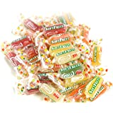 Vidal Golosinas Soft Fruit. Caramelo de goma sabores: piña, limón, naranja, manzana y fresa. Colores amarillo, rojo y…
