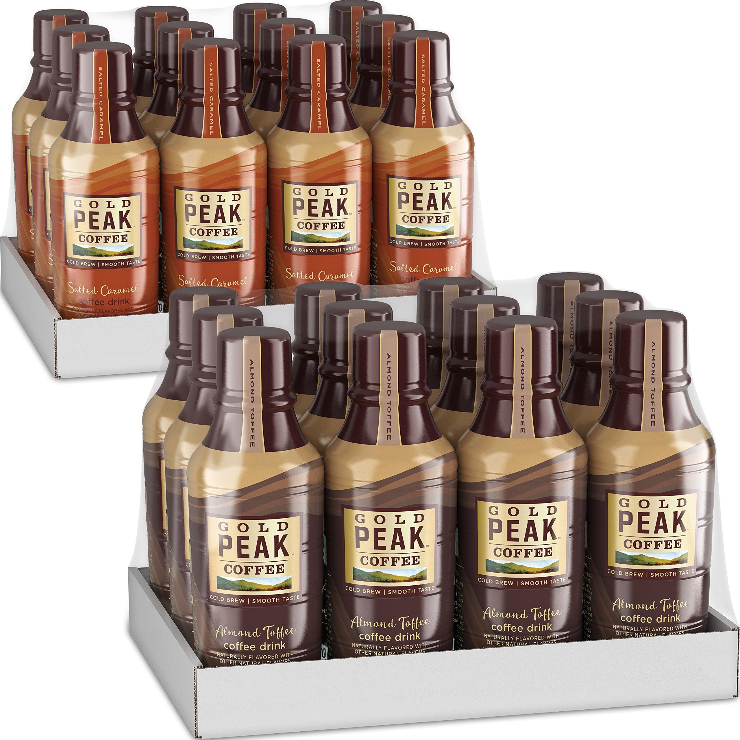 Gold Peak Variety Pack (Salted Caramel & Almond Toffee), 14 fl oz, 24 Pack by Gold Peak