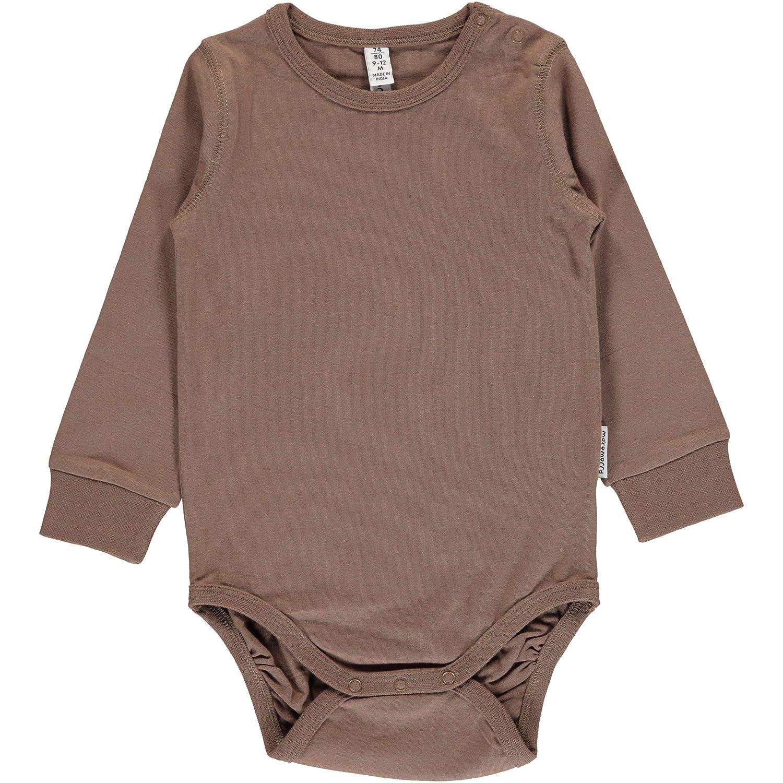 Maxomorra Basic Long Sleeved Body Vest - Hazel Brown