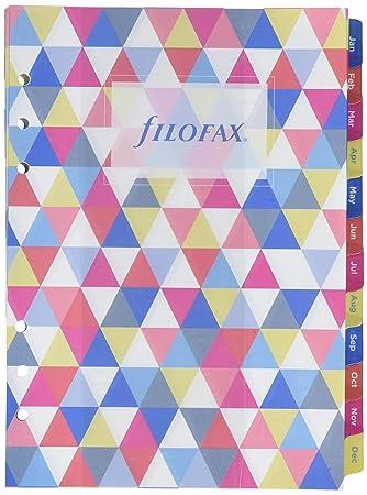 Filofax - Recambio de hojas para agenda (A5 geométrico ...
