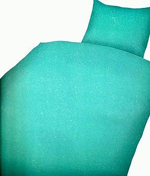 2 Tlg Bettwäsche Microfaser 135x200 Cm Uni Einfarbig Türkis
