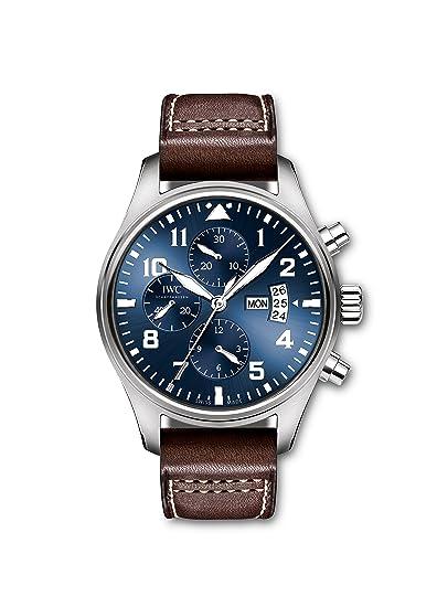 IWC Pilot Le Petit Prince azul Dial piel de color marrón reloj para hombre iw377706: Amazon.es: Relojes