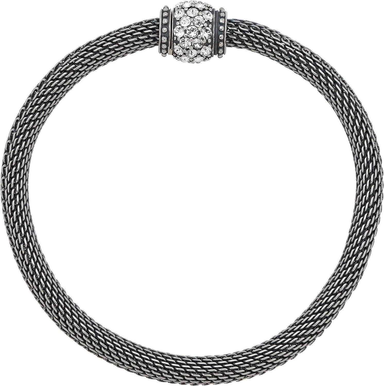 "B01M3NYD73 Silpada 'Mesh Together' Bead Stretch Chain Bracelet with Swarovski Crystals in Sterling Silver, 7"" 91rn7B2m2BJL.UL1500_"