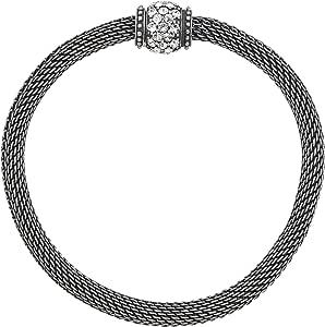 Italian Designer Brushed Sterling Modernist Cuff Bracelet 7-7-14 Bracelet