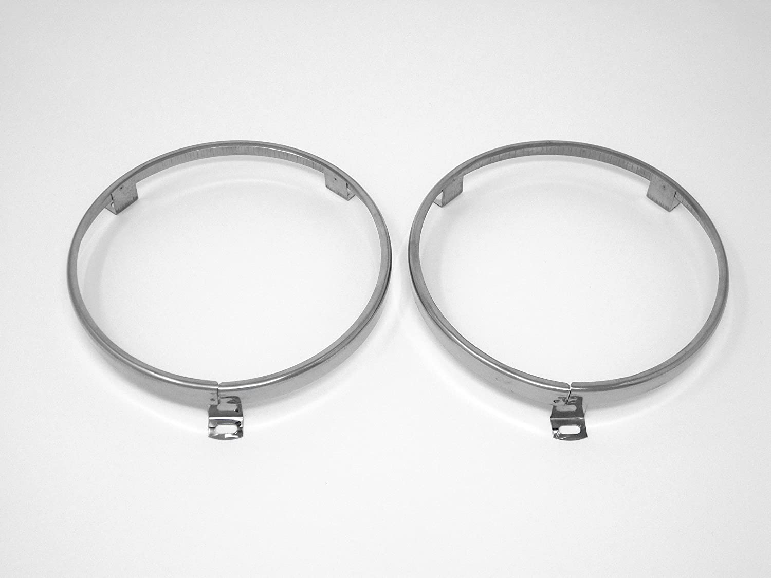 "5 3/4"" Headlight Headlamp Trim Ring Retainer Pair for Datsun 520 521 620 classicimports240z"
