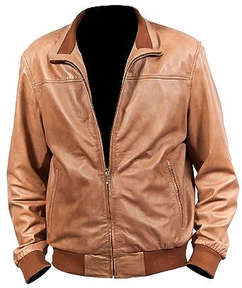 Amazon.com: Chaqueta de piel para hombre, diseño de moto ...
