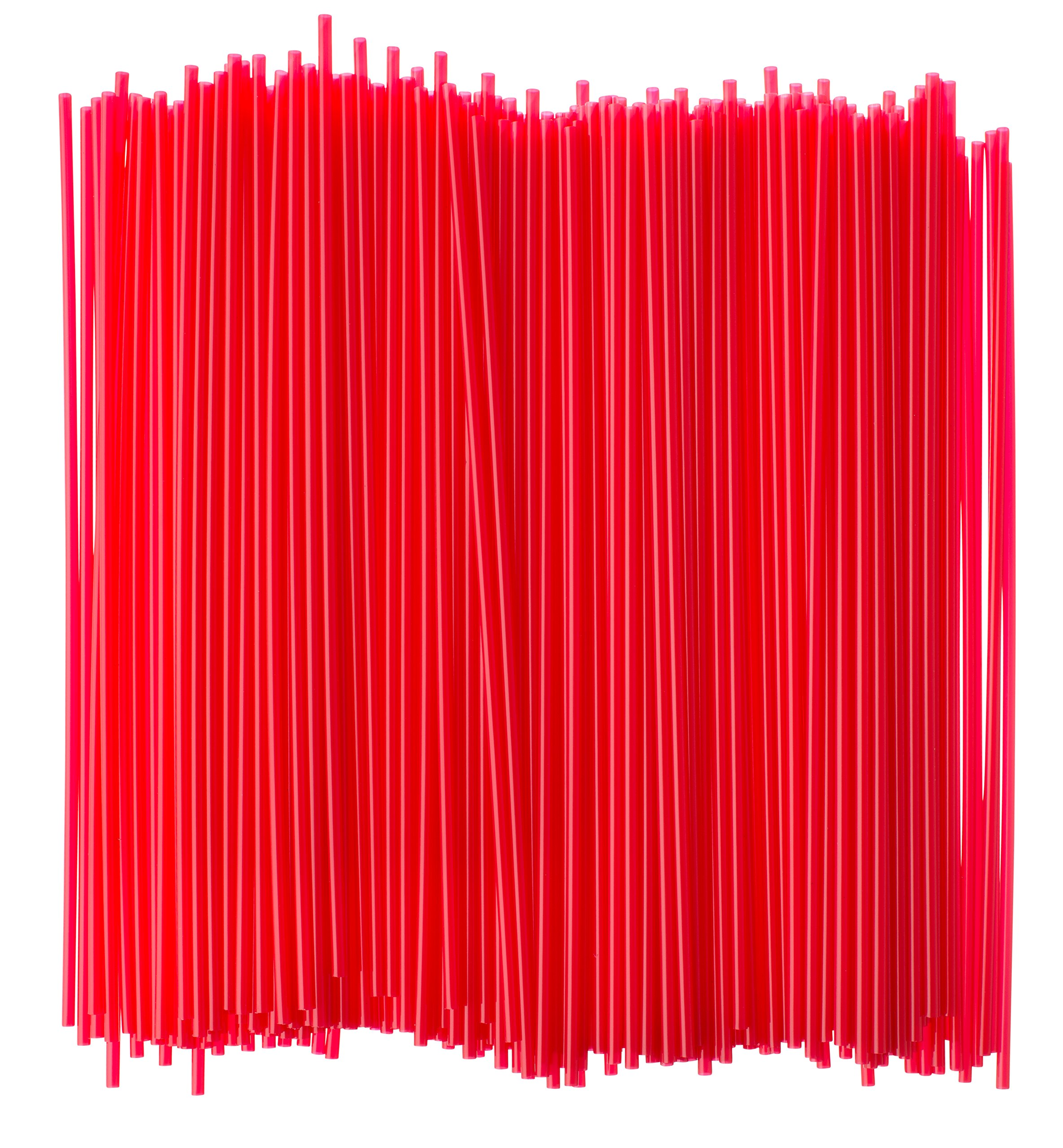 Crystalware Plastic Sip Stirrers, Cocktail and Coffee Stirrers, 7 1/2 Inch 1000/box, Red by Crystalware (Image #1)