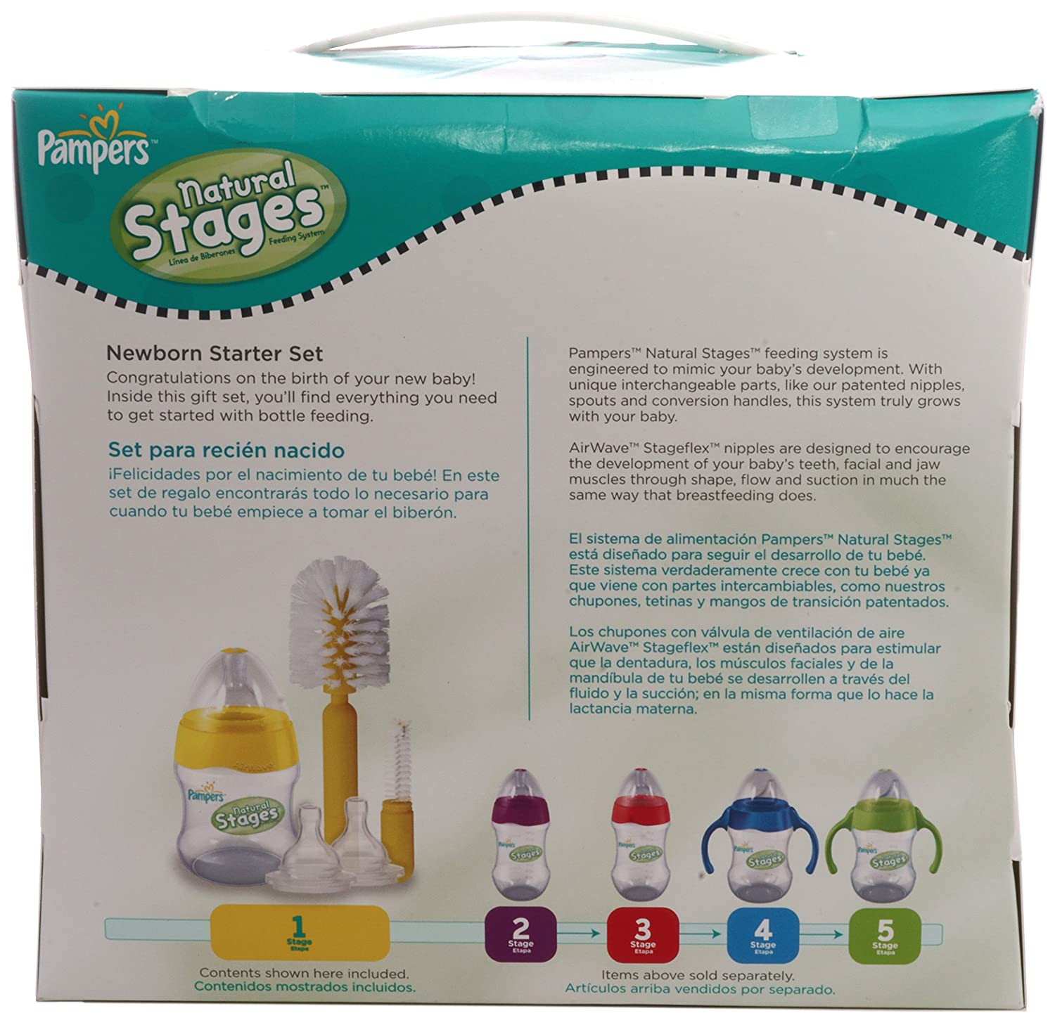 Amazon.com : Pampers Newborn Starter Set : Baby Bottle Supplies : Baby