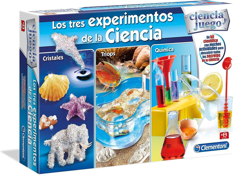 Clementoni - Los Tres experimentos de la Ciencia, Juego Educativo (98648.4): Amazon.es: Juguetes y juegos
