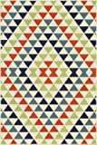 "Momeni Rugs BAJA0BAJ-5MTI2346 Baja Collection, Contemporary Indoor & Outdoor Area Rug, Easy to Clean, UV protected & Fade Resistant, 2'3"" x 4'6"", Multicolor"