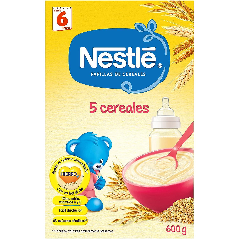 NESTLÉ Papilla 5 cereales - Alimento para Bebés - 600 g: Amazon.es: Amazon Pantry
