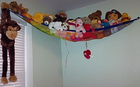 deluxe rainbow pet   toy organizer stuffed animal plush toy hammock amazon    deluxe rainbow pet   toy organizer stuffed animal      rh   amazon