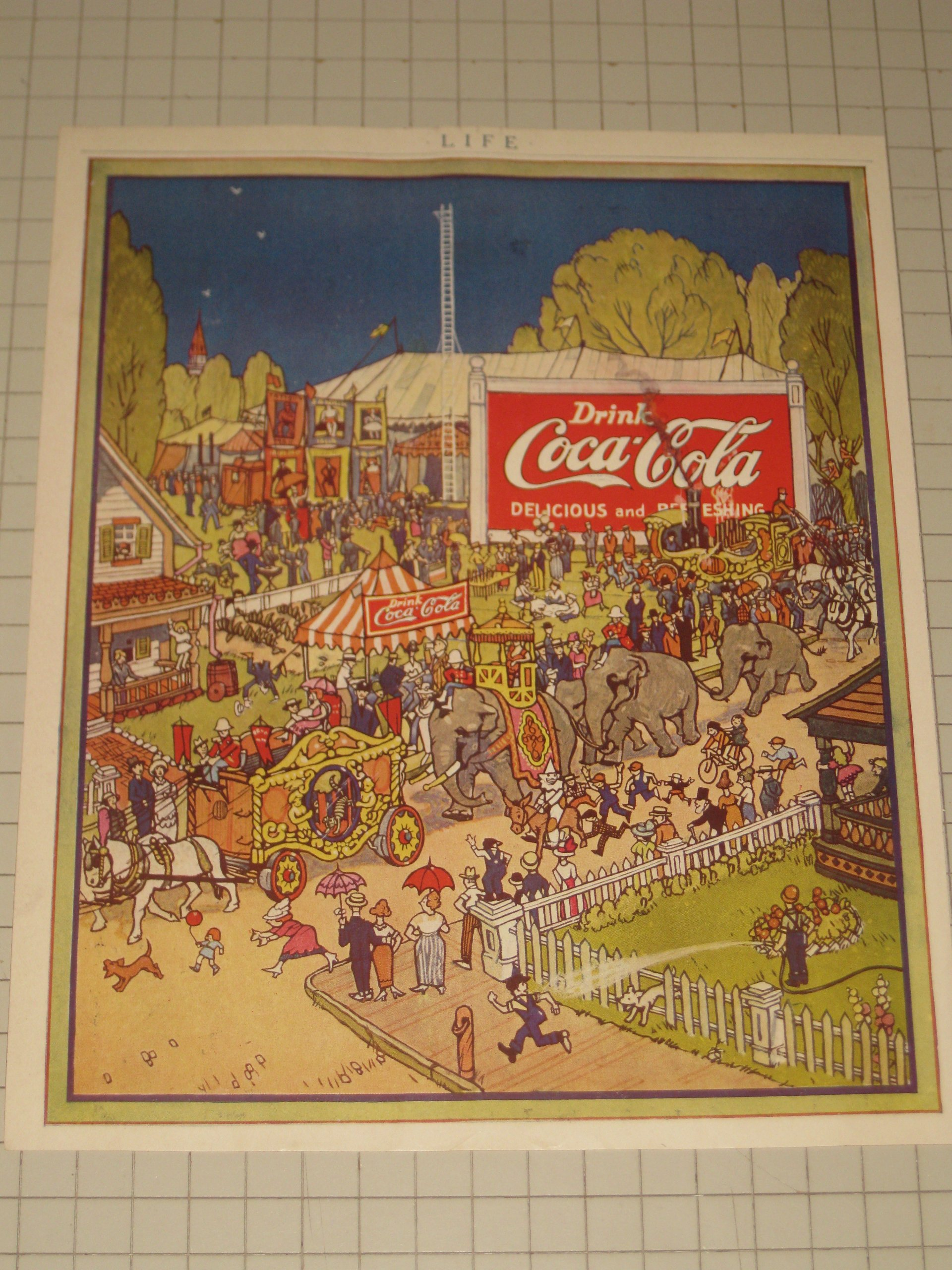1920 Coca Cola Ad (Coke) The Circus Comes To Town: n/a