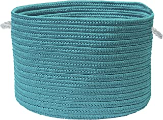"""product image for Colonial Mills Colorful Braided Toy Basket, 16""""x16""""x10"""", Aquamarine"""