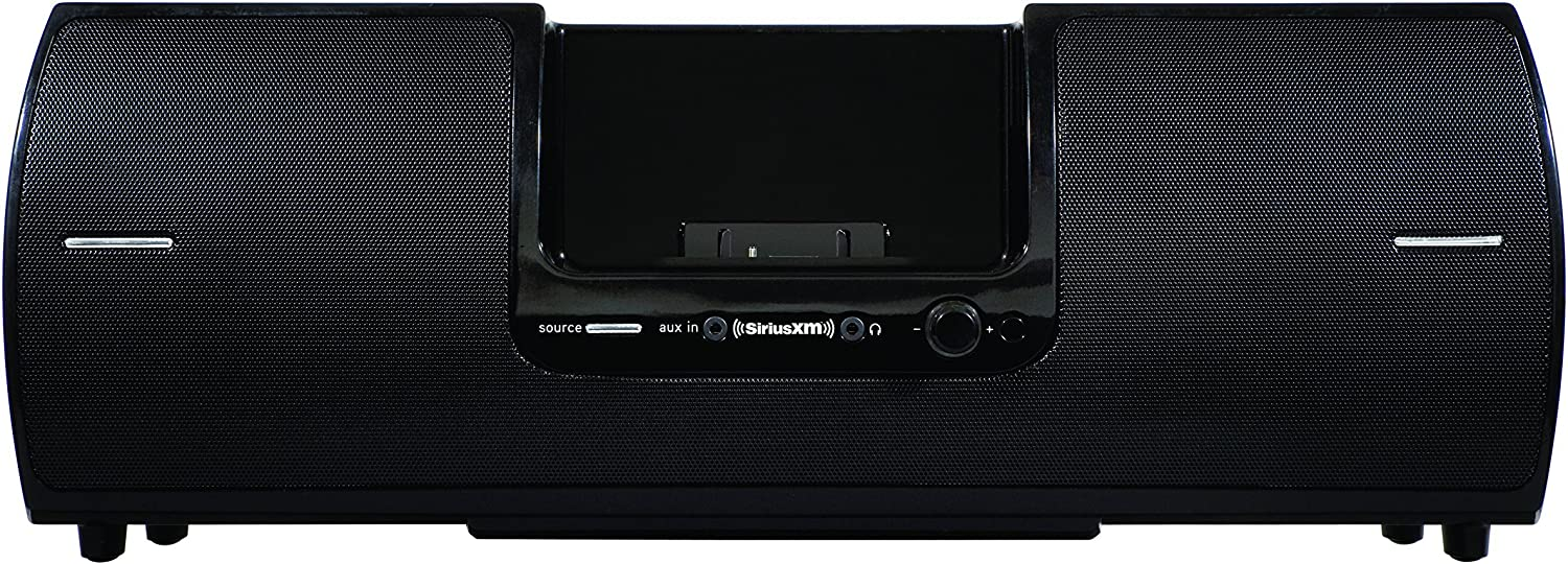 SiriusXM SXSD2 Portable Speaker Dock Audio System for Dock and Play Radios (Black) (Renewed)