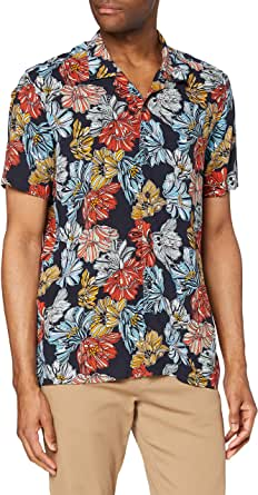 find. Camisa Hawaiana de Manga Corta Hombre