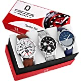 Decode Men's Analogue Watches (Black) - Combo Of 3