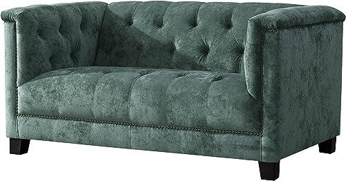 Acanva Luxury Vintage Tufted Velvet Living Room Sofa