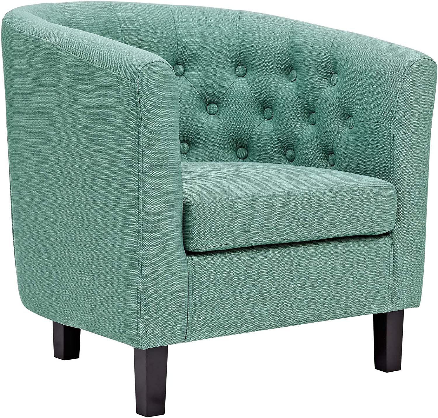 Modway Prospect Upholstered Fabric Contemporary Modern Accent Arm Chair in Laguna