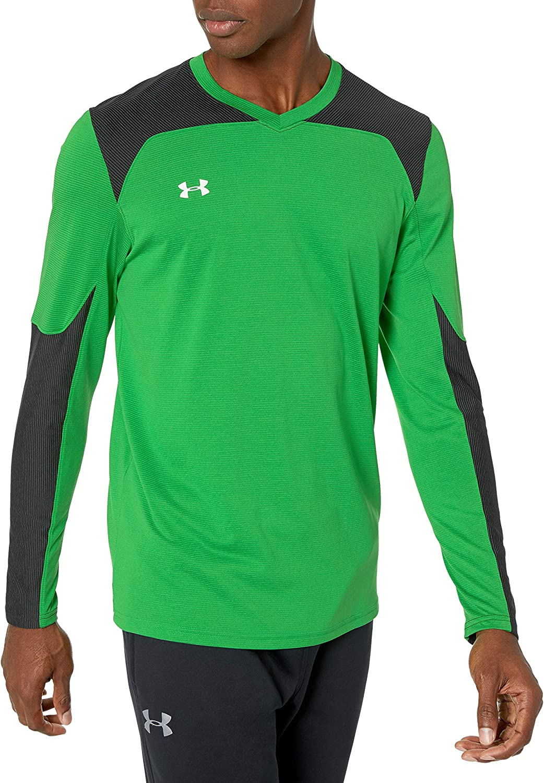 Under Armour Threadborne Goalkeeper GK Soccer Jersey Green Black M L UA NWT Mens