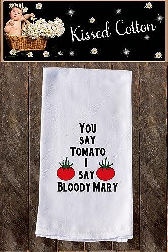 you say tomato i say bloody mary funny dish towels funny tea towels flour - Funny Kitchen Towels